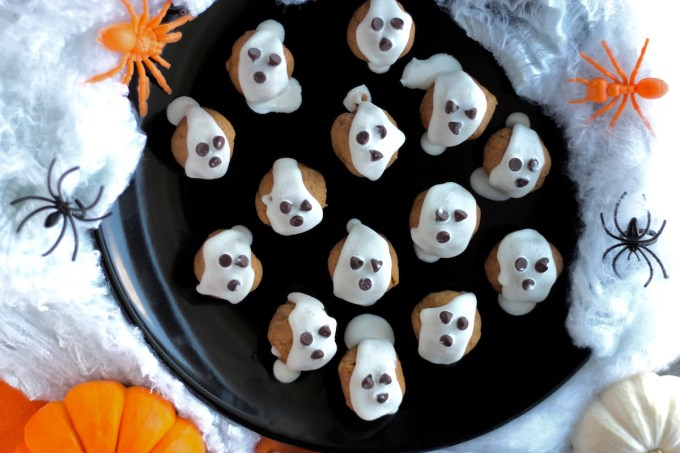"Almond Butter ""Boo"" Bites - a Paleo, spooky sweet treat that is simple, delicious, and a healthy candy alternative! 