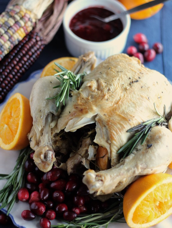 Instant Pot Whole Chicken with Cranberry Orange Sauce (AIP)