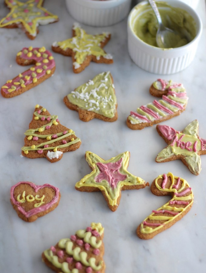 Frosted Cut-Out Sugar Cookies (AIP, Paleo, Vegan)