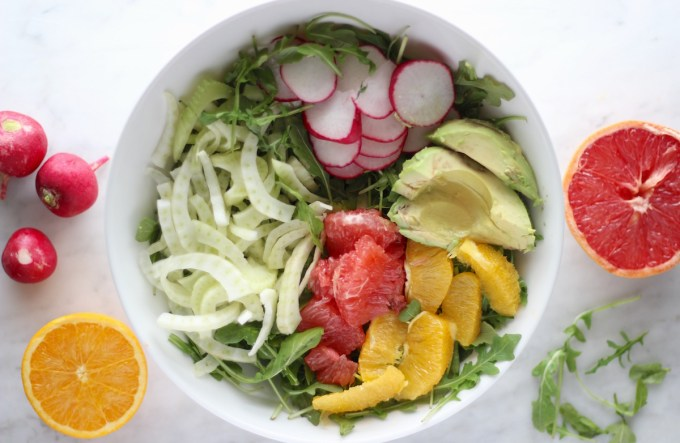 Citrus Fennel Salad with Grapefruit Vinaigrette (AIP) - a healthy, refreshing salad to break up hot and heavy winter foods! Eat plain or top with your favorite protein! | fedandfulfilled.com