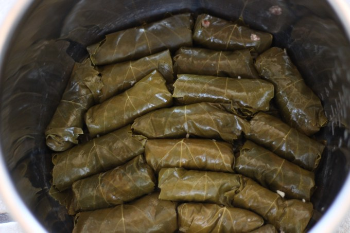 Instant Pot Paleo Stuffed Grape Leaves (AIP) - a classic Middle Eastern favorite is given a Paleo spin and cooked easily in the Instant Pot! | fedandfulfilled.com
