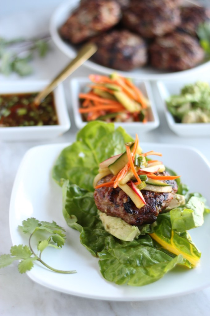 Paleo Pork Banh Mi Burgers (AIP) - delicious and healthy Vietnamese-style burgers that will be a hit at your next barbecue! | fedandfulfilled.com