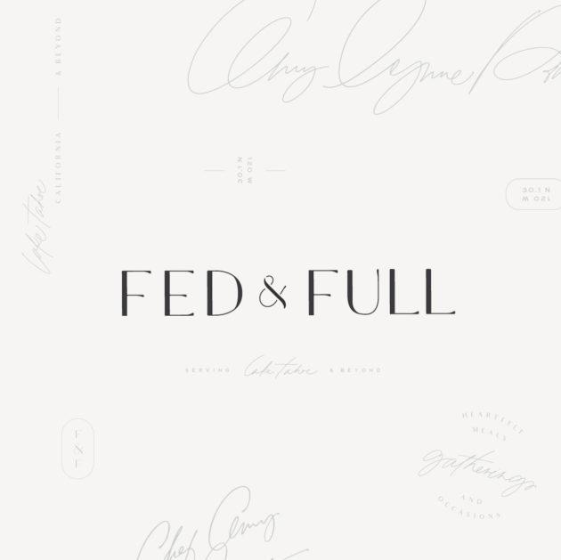 Branding Design | Fed & Full | Chef Amy Lynne Power