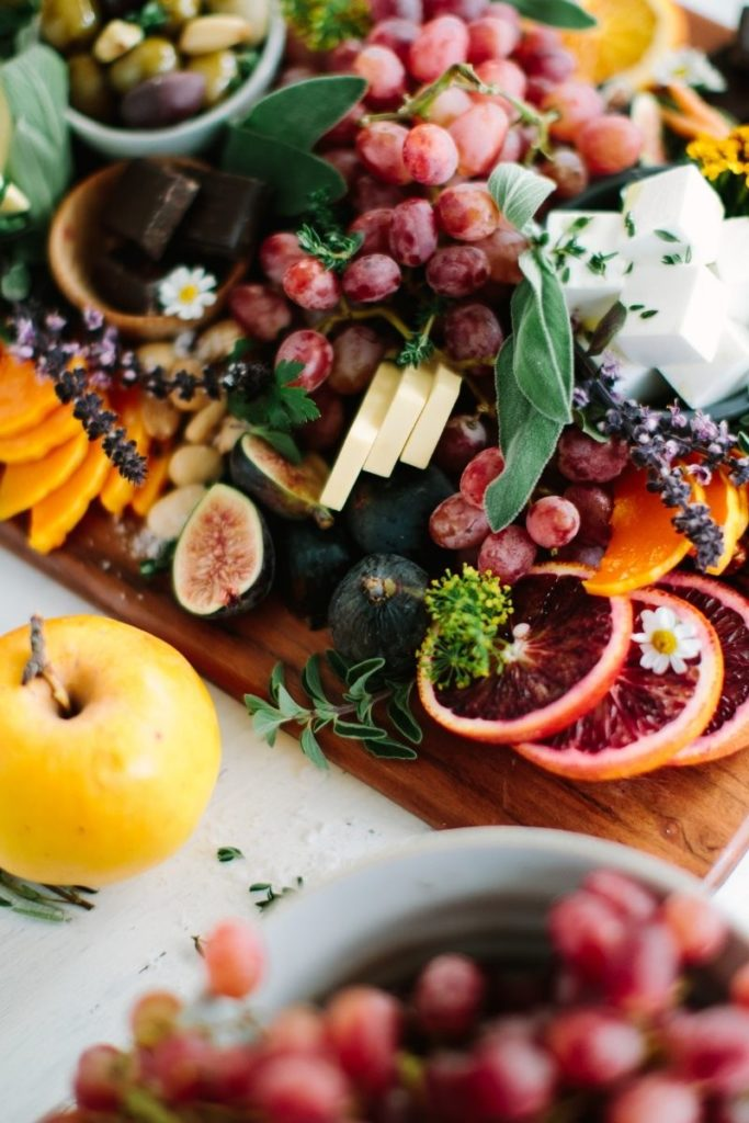 Drool-worthy vegan cheese platter by Fed & Full