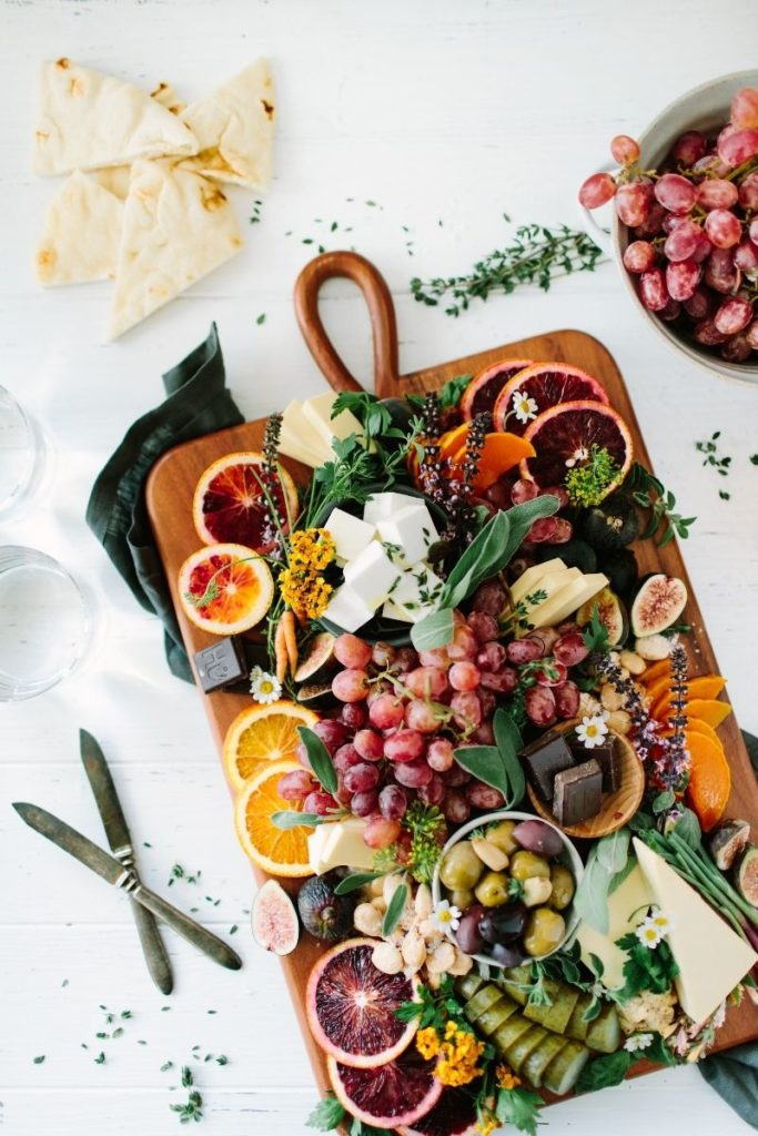 Create a drool-worthy vegan cheese platter filled with seasonal selections that suit your tastes using what you like and what you have inside your pantry!