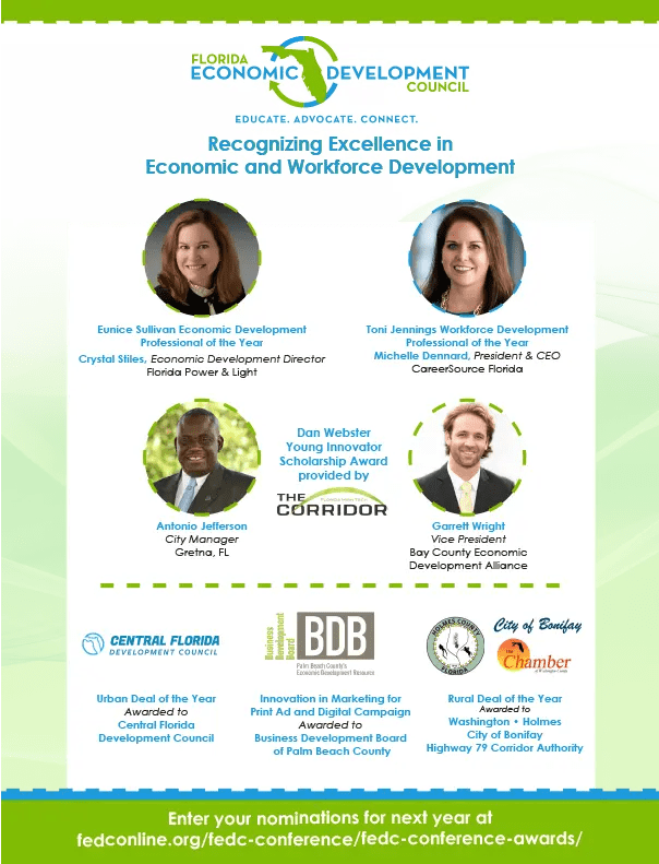FEDC Economic Development Award Winners 2019