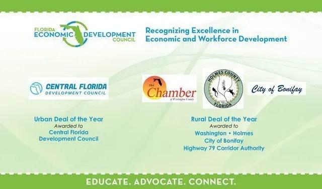 Slide for 2019 FEDC Economic Development Deals of the Year