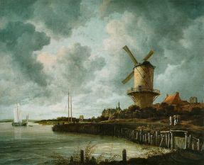 De molen bij Wijk bij Duurstede, Jacob Isaacksz. van Ruisdael, ca. 1668 - ca. 1670