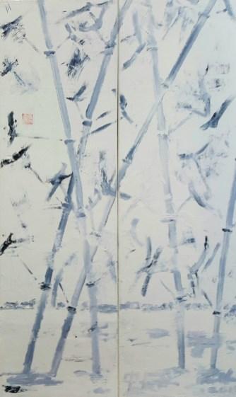 Hong Cun Oil on canvas (diptych) 60 x 100 cm 2016