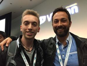 Federico Pistono and Derek Muller (Veritasium)