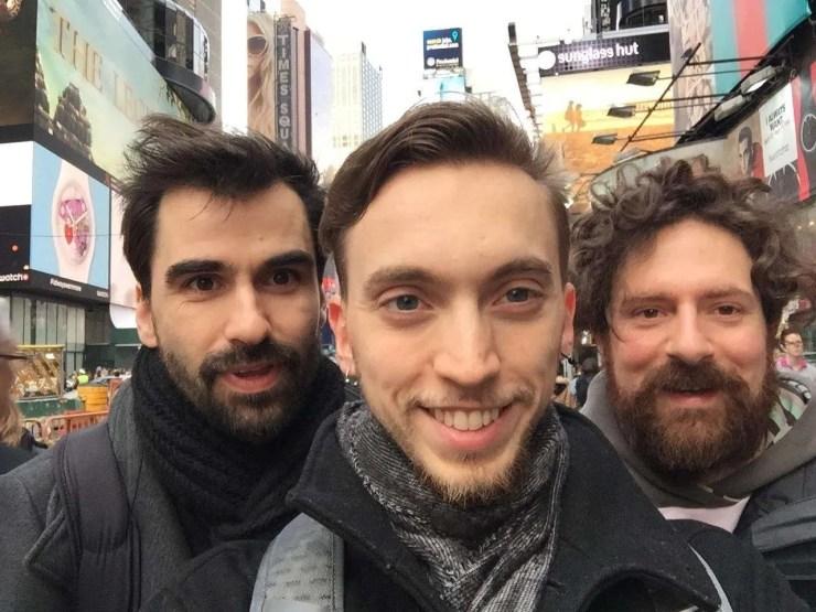 Federico Pistono, Sirio Marchi, Kris Barnhoorn, Team Konoz a New York