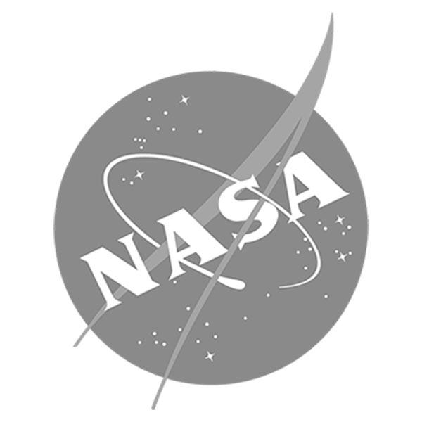 NASA icon - grayscale on white background