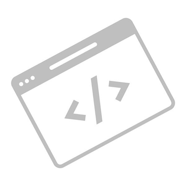 Programming icon - grayscale on white background