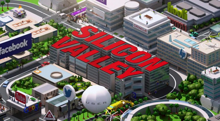 Silicon Valley 3d rendering from above