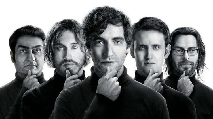 Il cast di Silicon Valley si mette in posa Steve Jobs