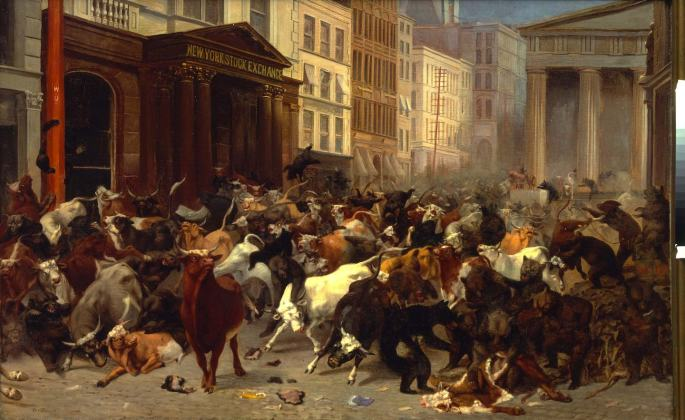 The Bulls and Bears in the Market by William Holbrook Beard (1879)