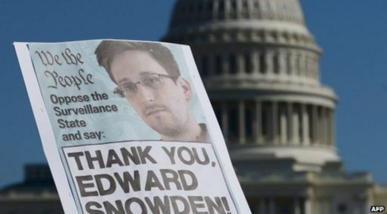 Thank you snowden sign capitol USA