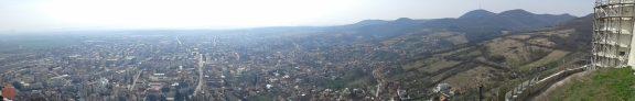panorama dealul cetatii deva