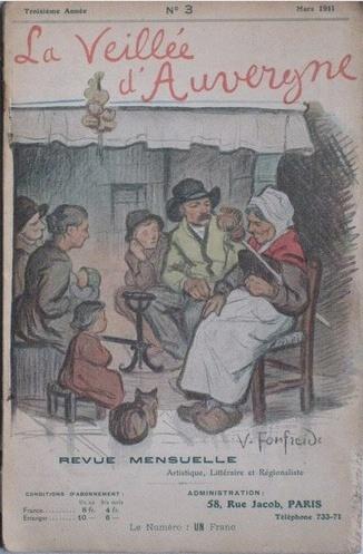 La Veillée d'Auvergne, frontispice de Victor Fonfreide (1872-1934)
