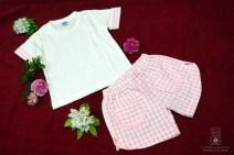 Conjunto camiseta y culottes rosa