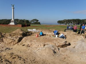 Federal Point Lighthouse Excavation. Nov. 2009