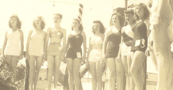 In 1948 Isabell (4th from left) was Miss Carolina Beach