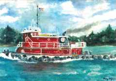 517 Notecards Tugboat