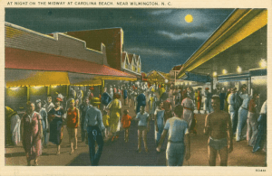 CB postcard 1938 - A Night On The Midway