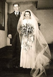 Mary Graham & Monroe Shigley - Wedding Day Feb 8, 1936