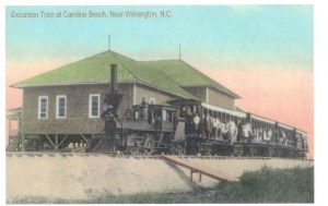 Shoo Fly Trainarriving at Carolina Beach Pavilion