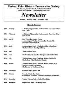 1996 Newsletter Historic Features
