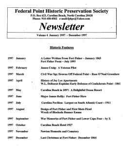 1997 Newsletter Historic Features