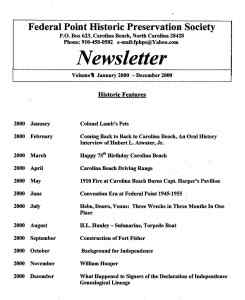 2000 Newsletter Historic Features