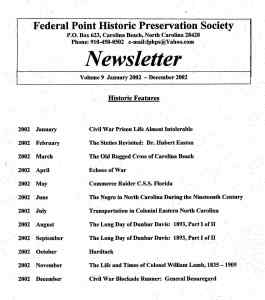 2002 Newsletter Historic Features