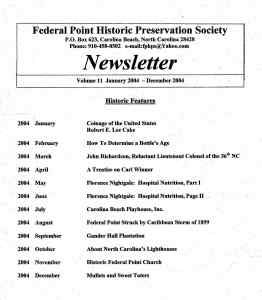 2004 Newsletter Historic Features