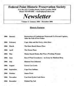 2006 Newsletter Historic Features
