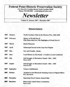 2007 Newsletter Historic Features