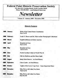 2008 Newsletter Historic Features