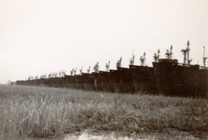 1949 - Mothballed Liberty Fleet in Wilmington