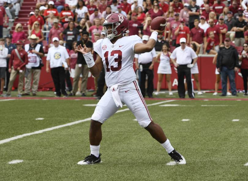 Alabama Arkansas Football 71198 - Tua vs. Drew: Star QBs share stage for Missouri-Alabama