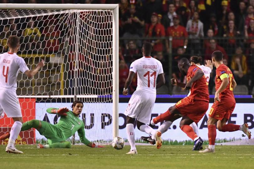 Belgium Switzerland Nations League Soccer 13752 - Lukaku leads Belgium past Switzerland with a brace