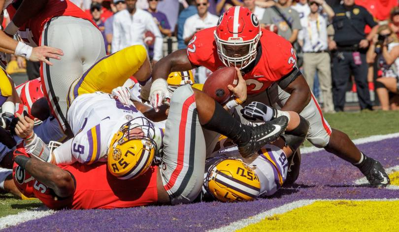 Georgia LSU Football 59037 - LSU's Orgeron takes signature win over No. 2 Georgia, 36-16