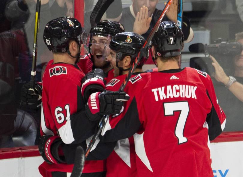 Kings Senators Hockey 13541 - Wideman gets first goals since injury, Sens top Kings 5-1
