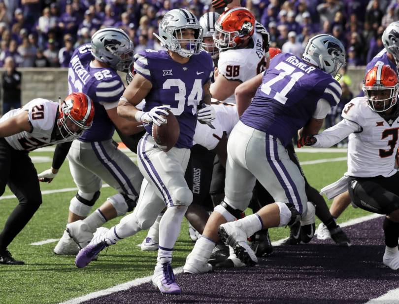 Oklahoma St Kansas St Football 67254 - Barnes runs for 4 TDs as K-State routs Oklahoma State, 31-12