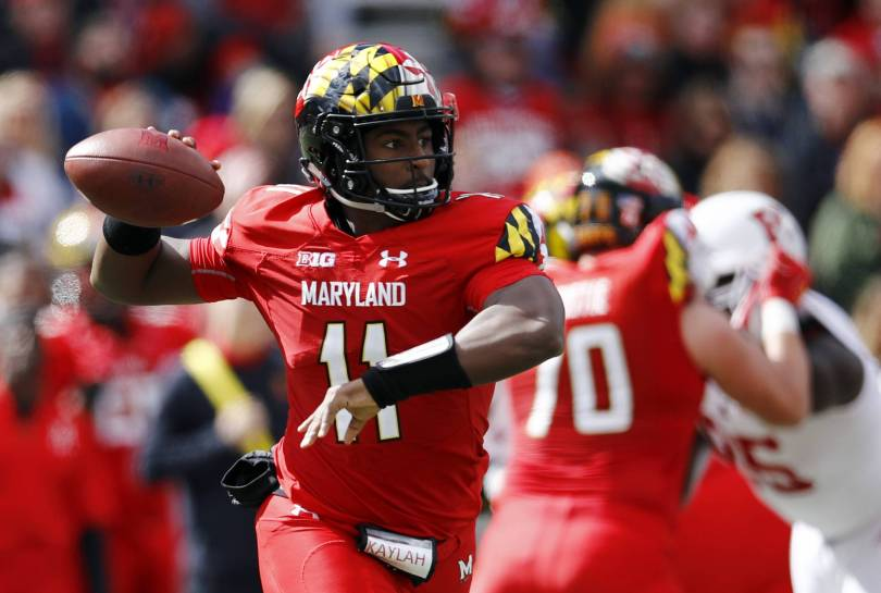 Rutgers Maryland Football 21201 - Hill throws 3 TD passes as Maryland beats Rutgers 34-7