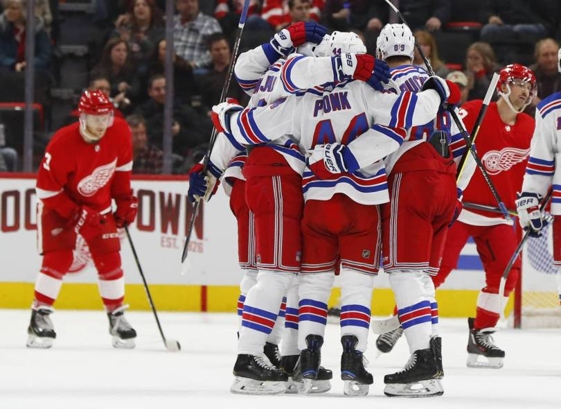 Rangers Red Wings Hockey 32680 - Red Wings rally past Rangers 3-2 in OT