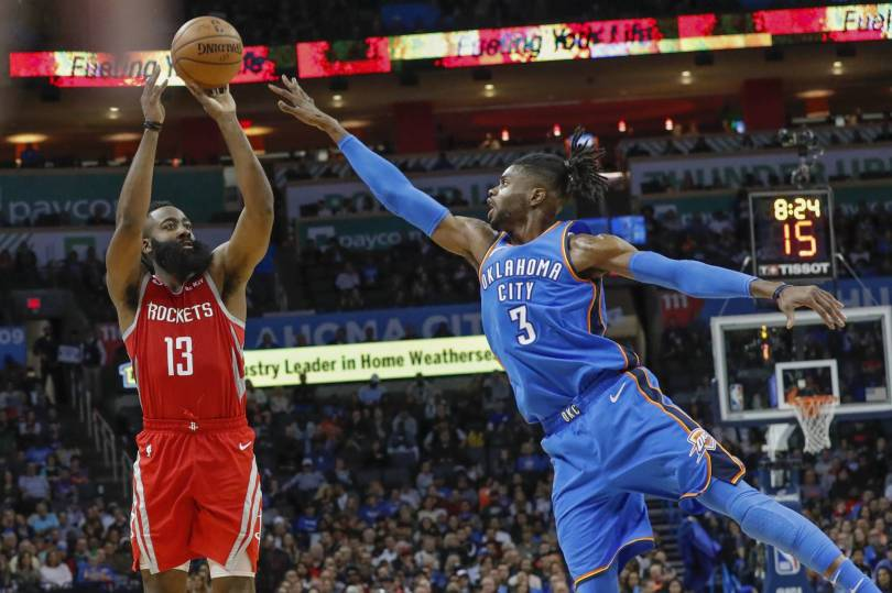Rockets Thunder Basketball 55194 - Westbrook-less Thunder beat Rockets for 7th straight win
