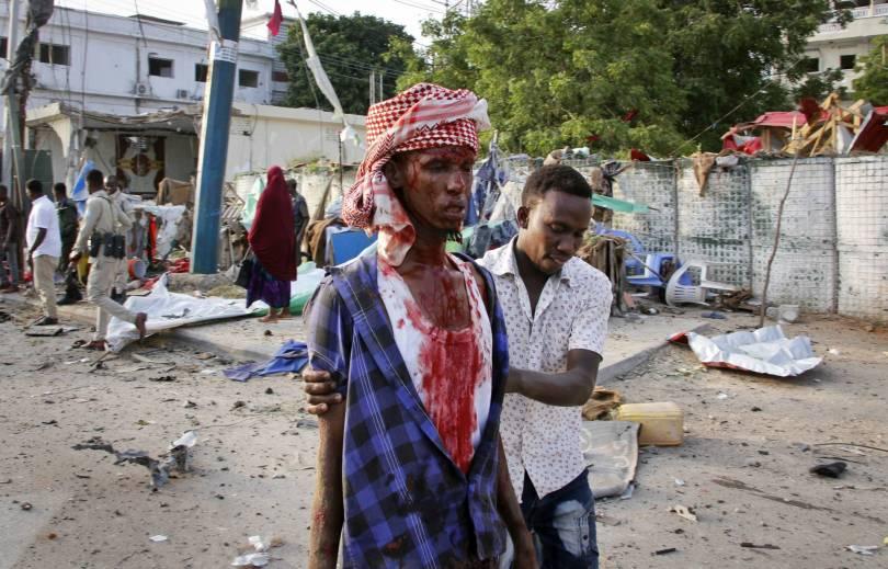 Somalia Bomb Blasts 65662 - Toll rises to 53 dead from bomb blasts in Somalia's capital