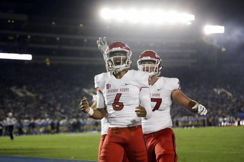 APTOPIX Fresno St UCLA Football 25375 - McMaryion scores 4 touchdowns to lead Fresno State over UCLA