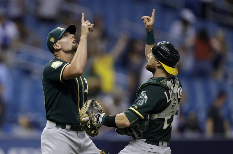Athletics Rays Baseball 52536 - Davis hits 42nd homer, Athletics beat Rays 2-1 in 10 innings